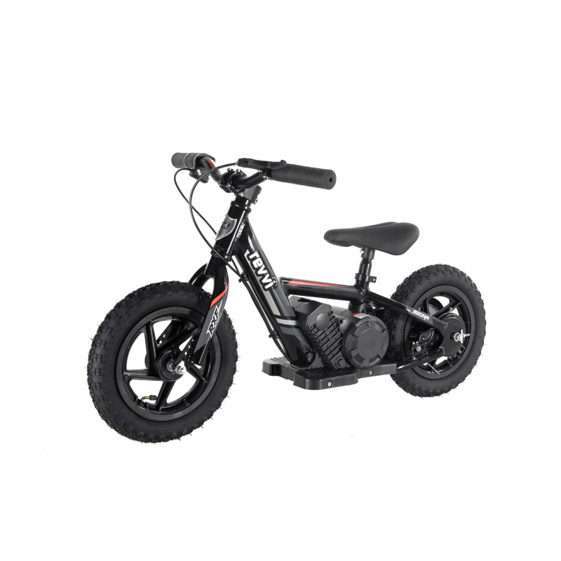 "100w Kids Electric Balance Bike - Black 12"" Wheels"