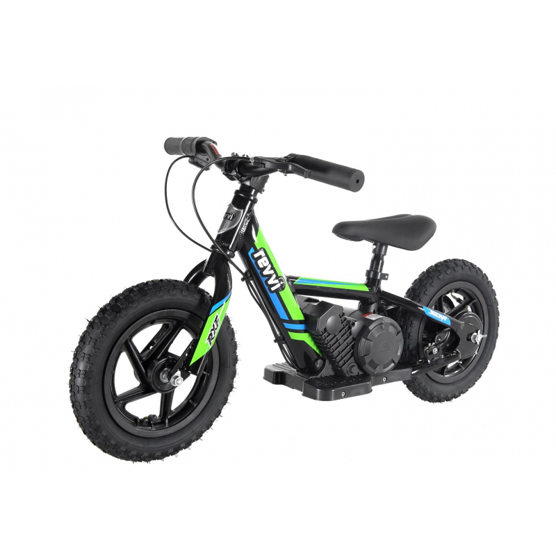 "100w Kids Electric Balance Bike - Green 12"" Wheels"