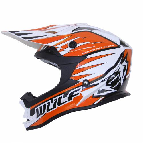Wulfsport Cub Advance Helmet - Orange