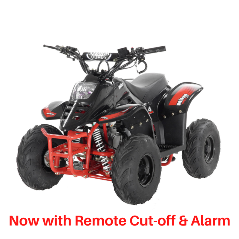 2020 VRX70 Kids Quad Bike With Remote Safety Cut Off - BLACK