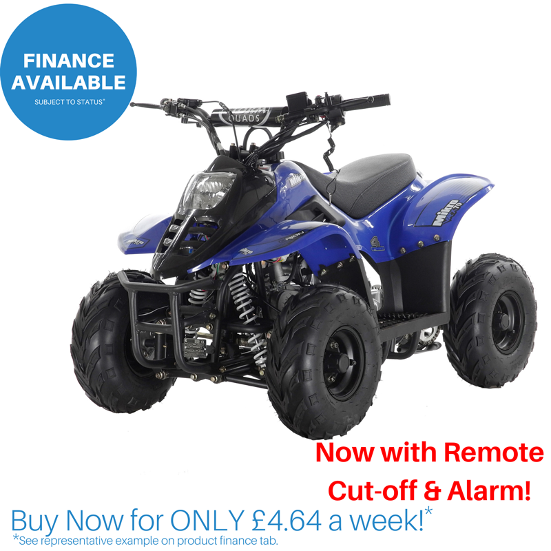 2020 VRX70 Kids Quad Bike With Remote Safety Cut Off - BLUE
