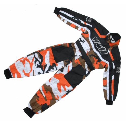 Wulfsport Cub Racing Camo Suit - Orange
