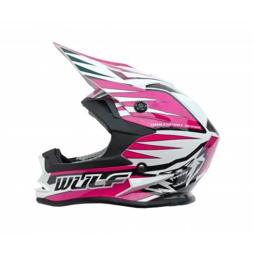 Wulfsport Cub Advance Helmet - Pink