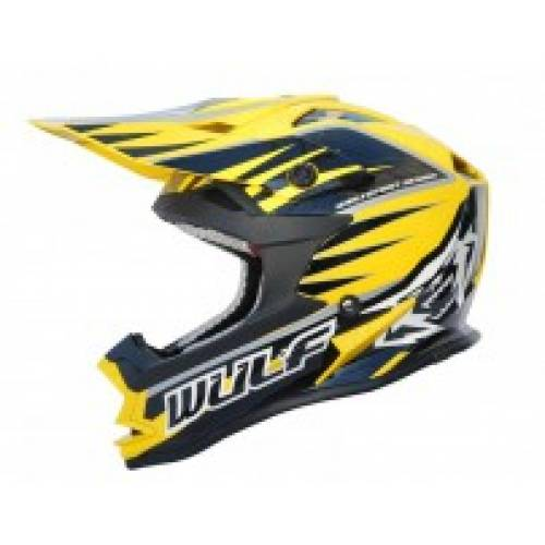 Wulfsport Cub Advance Helmet - Yellow
