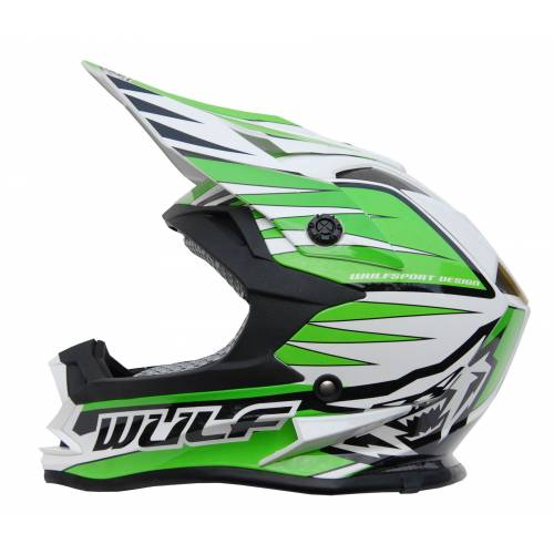 Wulfsport Cub Advance Helmet - Green
