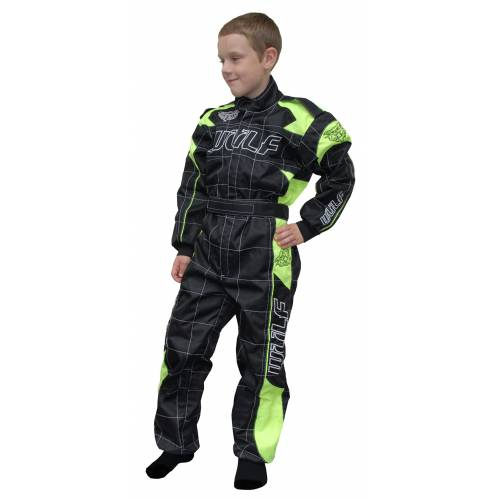 Wulfsport Cub Grand Prix Racing Suit - Black/Yellow