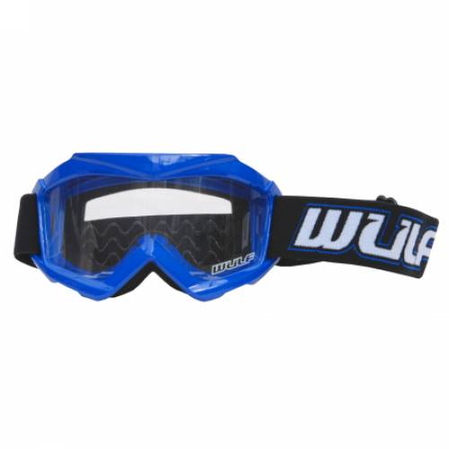 Wulfsport Cub Tech Goggles for MX Enduro - Blue