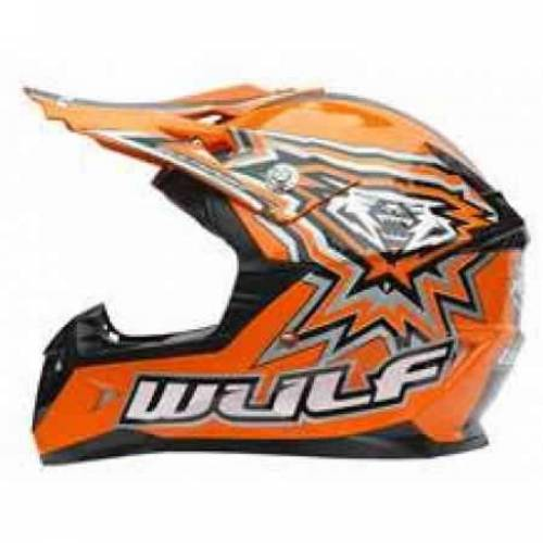 WULFSPORT JUNIOR FLITE-XTRA HELMET - ORANGE