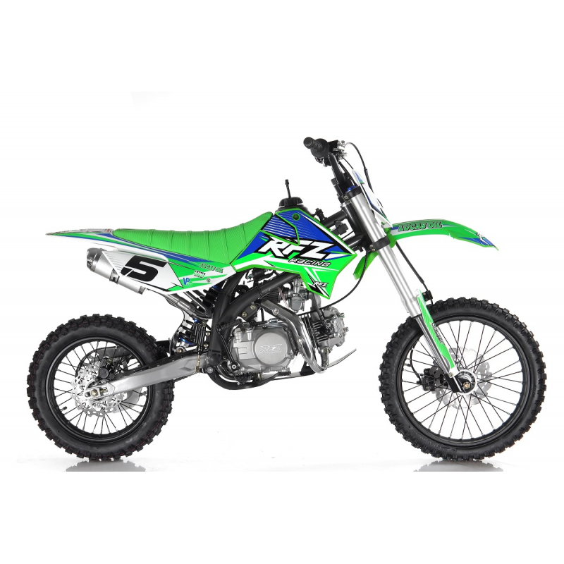 "Green 140cc RFZ RACING™ Big Wheel 17/14"" Dirt Bike"