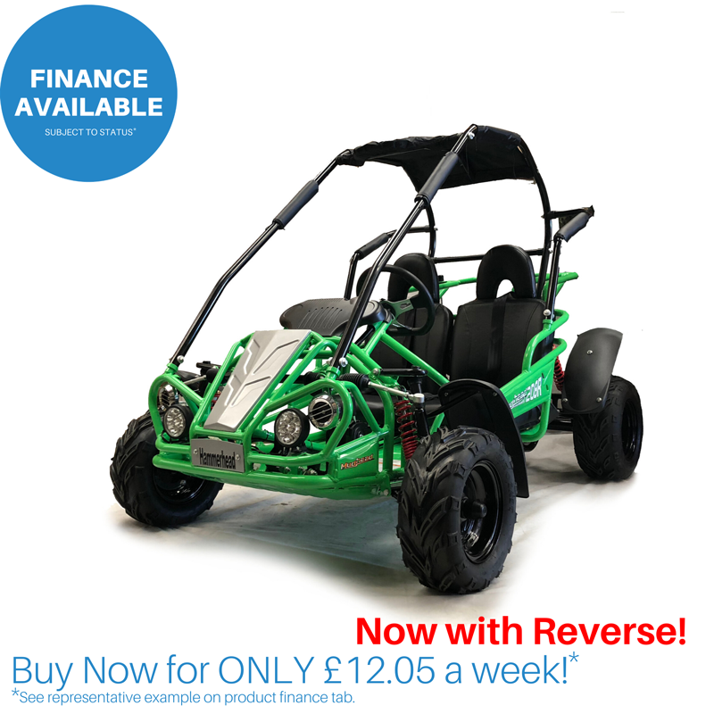 Green Hammerhead™ Mudhead™ Reverse 208R Junior Off Road Buggy