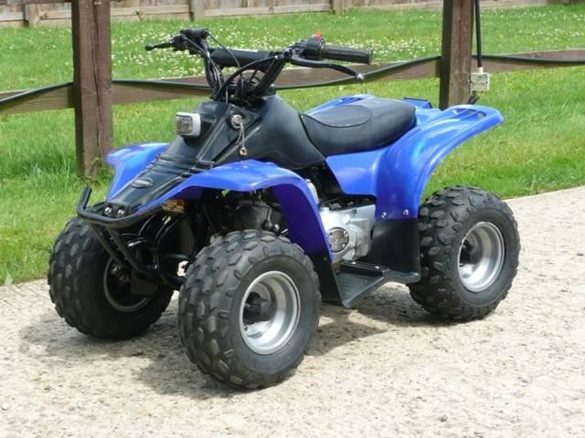 Kazuma Meerkat 50cc Kids Blue Quad Bike
