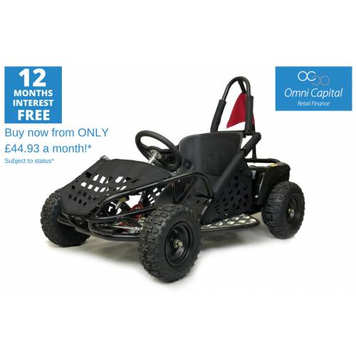 Kids 1000w Electric Off Road Go Kart - Black