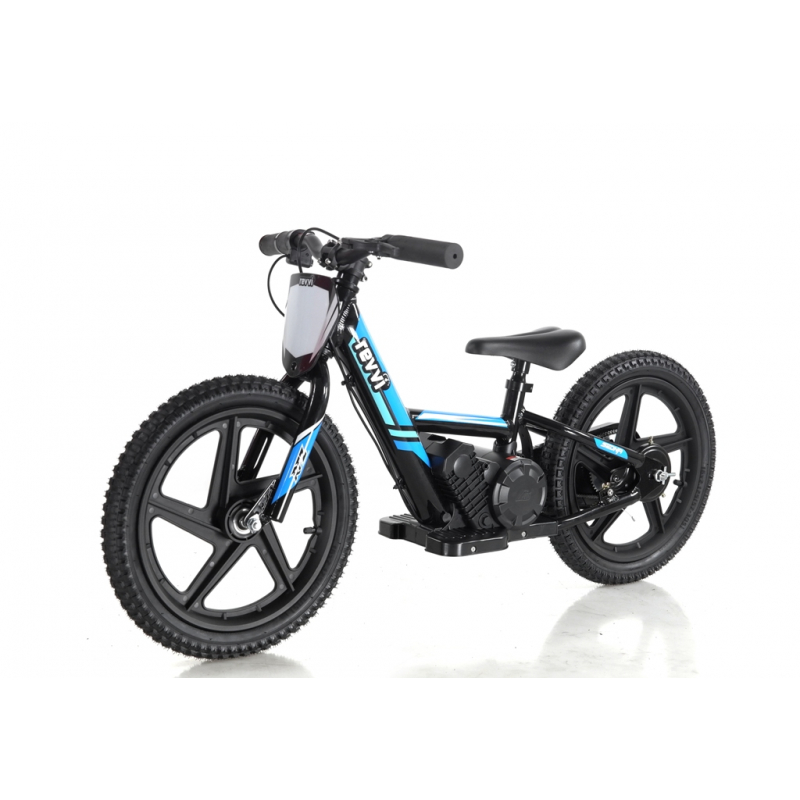 Kids 170w Electric Balance Bike - Revvi Sixteen - Blue