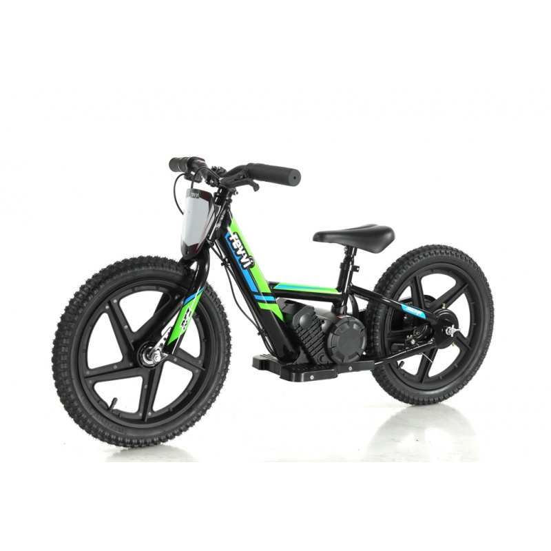 Kids 170w Electric Balance Bike - Revvi Sixteen - Green