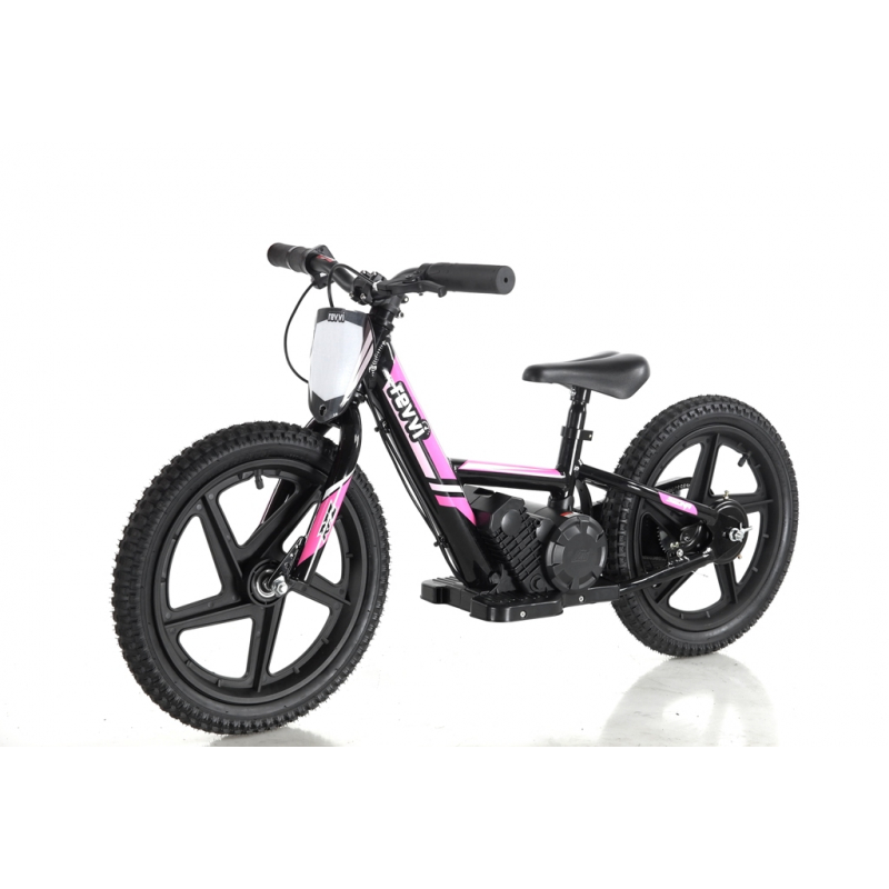 Kids 170w Electric Balance Bike - Revvi Sixteen - Pink