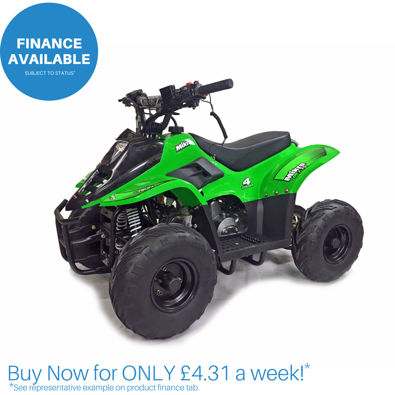 Mikro 70cc Kids Quad Bike Green