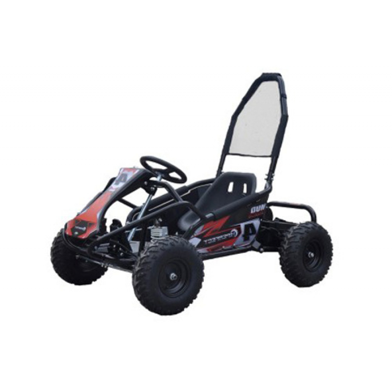 Mud Monster 1000w 20ah 48v Kids Electric Go Kart - Black