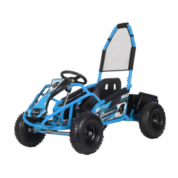 Mud Monster 1000w 20ah 48v Kids Electric Go Kart - Blue