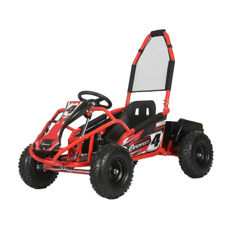 Mud Monster 1000w 20ah 48v Kids Electric Go Kart - Red