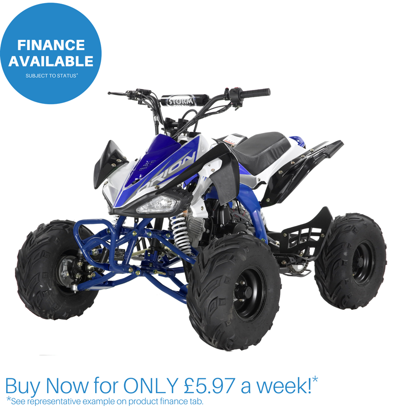 Orion Panther 110cc Quad Bike BLACK & BLUE