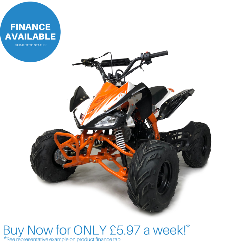 Orion Panther 110cc Quad Bike BLACK & ORANGE