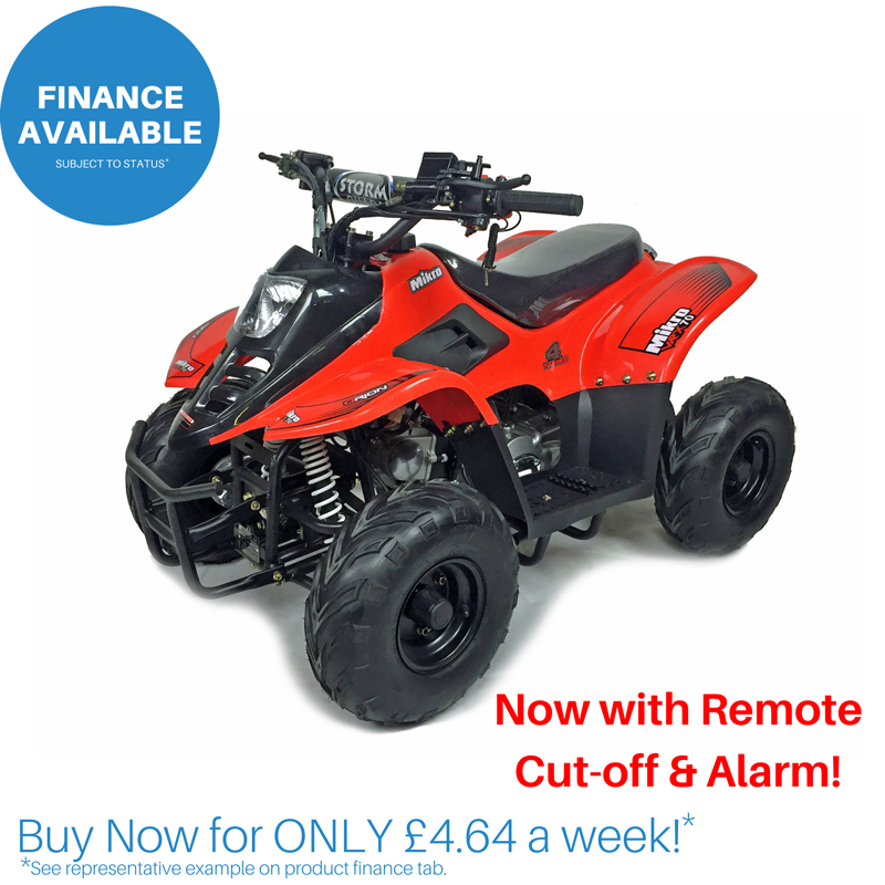 Red 2020 VRX70 Kids Quad Bike With Remote Safety Cut Off