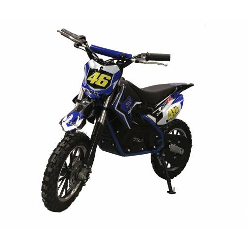 Fully Assembled Kids 500w Electric Mini Dirtbike - Blue