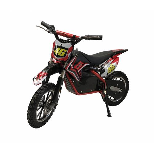 Fully Assembled Kids 500w Electric Mini Dirtbike - Red