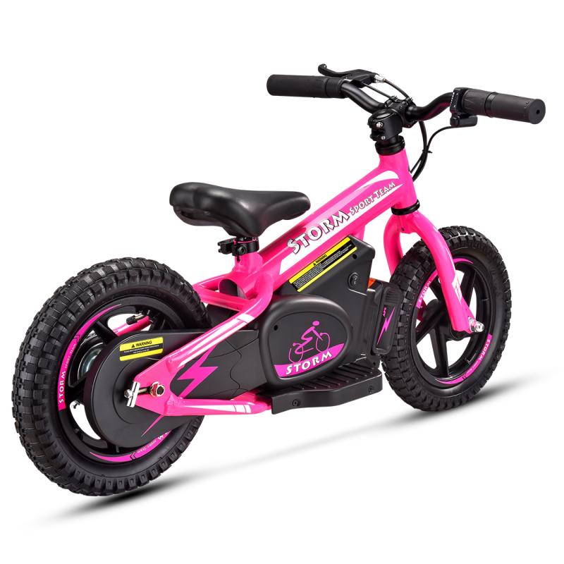 "Storm Kids 100w 12"" Electric Balance Bike - Pink"