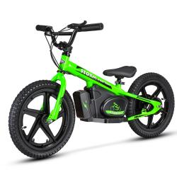 "Storm Kids 170w 16"" Electric Balance Bike - Green"