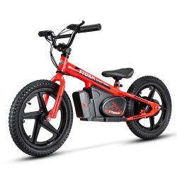 "Storm Kids 170w 16"" Electric Balance Bike - Red"